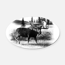 Northern Disposition Oval Car Magnet