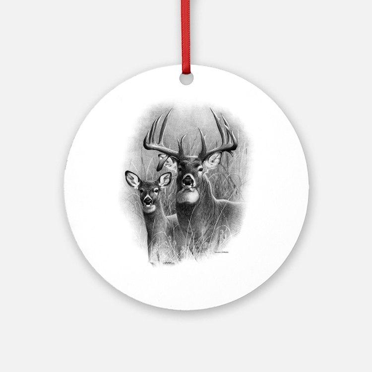 Big Buck Ornament (Round)