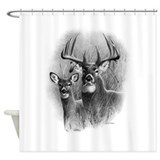 Buck and doe Shower Curtains