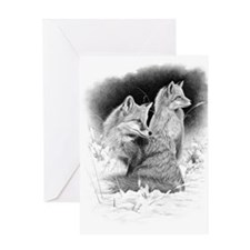 Foxes.tif.png Greeting Card