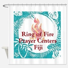 Ring of Fire Island Fire Shower Curtain