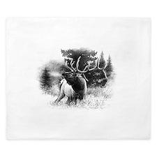 Elk Bugle.tif.png King Duvet