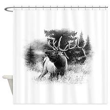 Elk Bugle.tif.png Shower Curtain