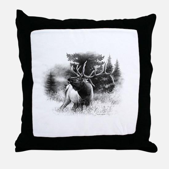 Elk Bugle.tif.png Throw Pillow