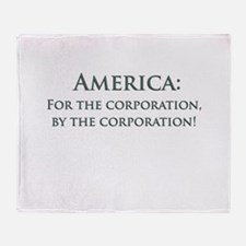 America For The Corporation Throw Blanket