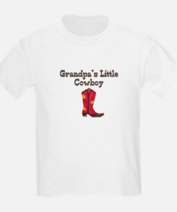 Grandpa's Little Cowboy Kids T-Shirt