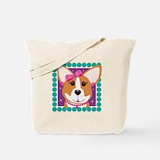 Corgi Diva Dog Art Tote Bag
