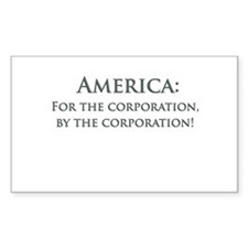 America For The Corporation Decal