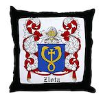 Zlota Coat of Arms Throw Pillow