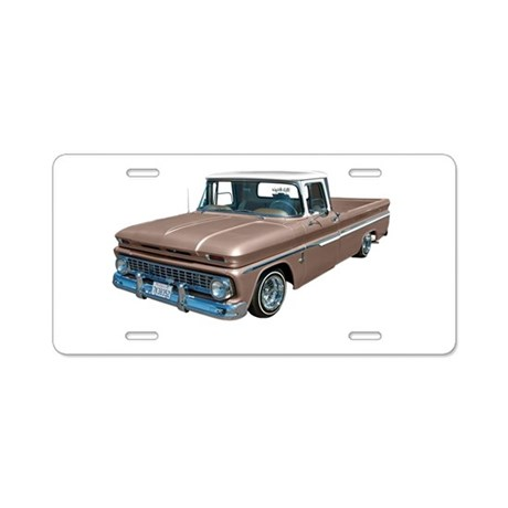 1963 Chevy C10 Aluminum License Plate by GOGOFOTO
