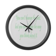 Wisdom - Can't Change Past Large Wall Clock