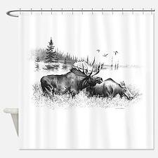 Moose Shower Curtain