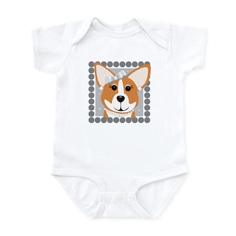 Corgi Diva Dog Art Infant Bodysuit