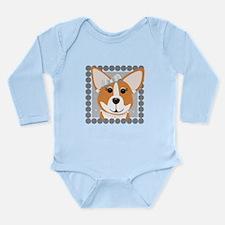 Corgi Diva Dog Art Long Sleeve Infant Bodysuit