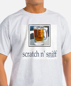 Scratch n' Sniff Beer Ash Grey T-Shirt