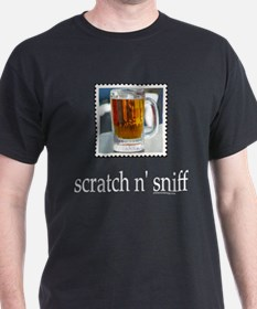 Scratch n' Sniff Beer Black T-Shirt