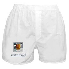 Scratch n' Sniff Beer Boxer Shorts