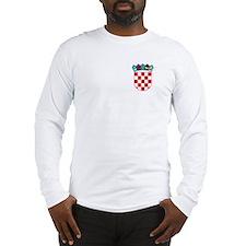 Croatia Hrvatska Emblem Long Sleeve T-Shirt