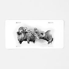 Rams Aluminum License Plate