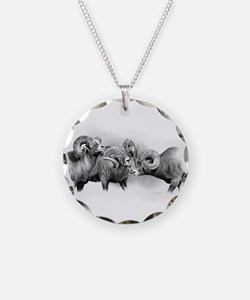 Rams Necklace Circle Charm