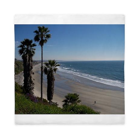 Beautiful Beach Scene Queen Duvet