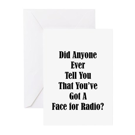 Radio Face Greeting Cards (Pk of 10)