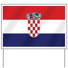 Flag of Croatia Yard Sign