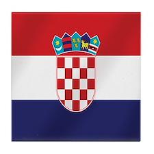 Flag of Croatia Tile Coaster