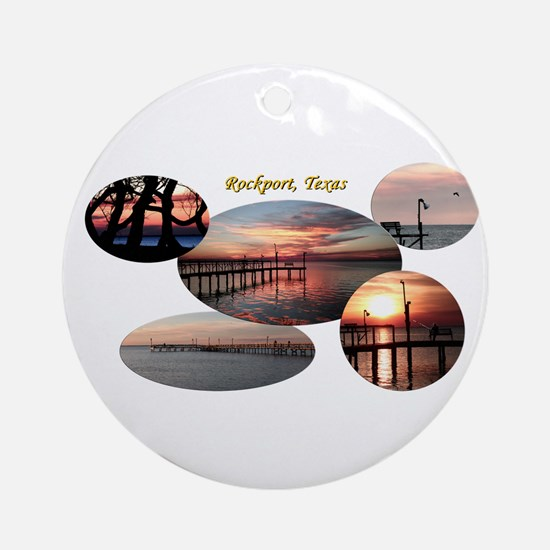 Rockport Texas 2 Round Ornament