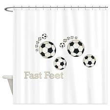 Soccer Fast Feet Shower Curtain