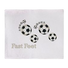 Soccer Fast Feet Throw Blanket