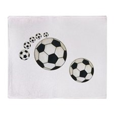 Soccer Ball Footprint Throw Blanket