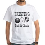 Ball And Chain White T-Shirt