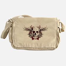 dark red skull Messenger Bag