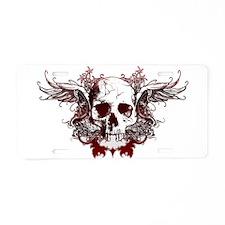 dark red skull Aluminum License Plate