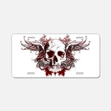 dark red skull Aluminum License Plate