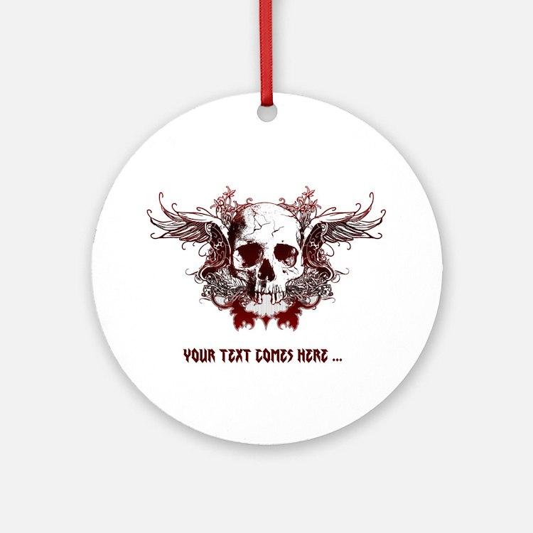dark red skull Ornament (Round)