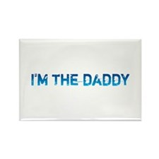 I am the daddy - blue Rectangle Magnet (10 pack)
