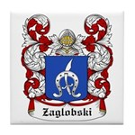 Zaglobski Coat of Arms Tile Coaster