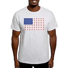 Patriotic USA Horse Flag T-Shirt