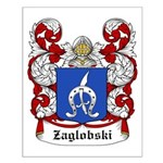 Zaglobski Coat of Arms Small Poster