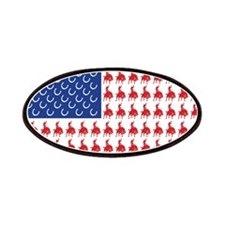 Patriotic Rodeo Cowboy USA Fl Patches