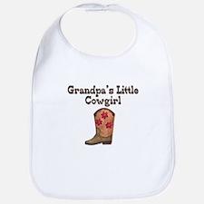 Grandpa's Little Cowgirl Bib
