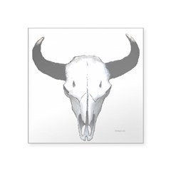 "Buffalo skull Square Sticker 3"" x 3"""