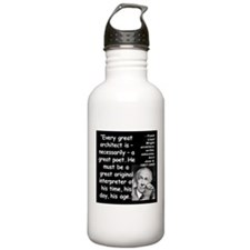 Wright Poet Quote 2 Water Bottle