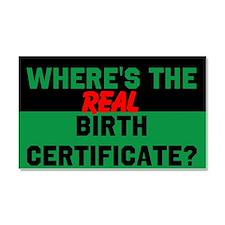 Birth Certificate Car Magnet 20 x 12