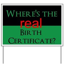 Birth Certificate Yard Sign