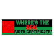 Birth Certificate Bumper Sticker