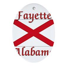 Fayette Alabama Ornament (Oval)
