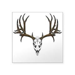 European mount mule deer Square Sticker 3